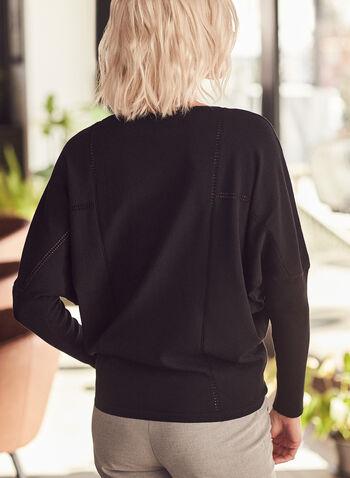 Bat Sleeve Sweater, Black,  sweater, long sleeves, knit, bat sleeves, spring top, spring 2020, spring summer 2021