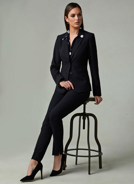 Louben - Pantalon à jambe étroite , Noir, hi-res