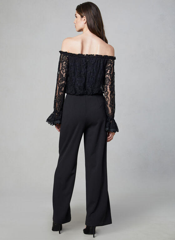 Adrianna Papell - Lace Jumpsuit, Black, hi-res
