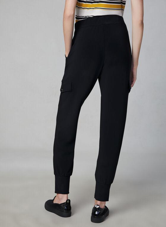 Pantalon cargo à jambe étroite, Noir, hi-res