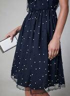 Maggy London - Mesh Illusion Neck Dress, Blue, hi-res