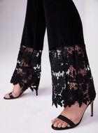 Joseph Ribkoff - Lace Trim Pants, Black, hi-res