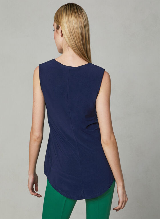 Sleeveless Jersey Top, Blue, hi-res