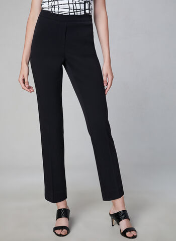 Amber Fit Slim Leg Pants, Black, hi-res,  stretchy, amber, ankle length, fall 2019, winter 2019