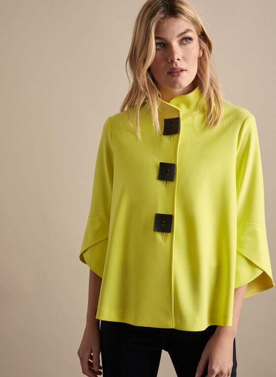 Joseph Ribkoff - Tulip Sleeve Jacket, Green