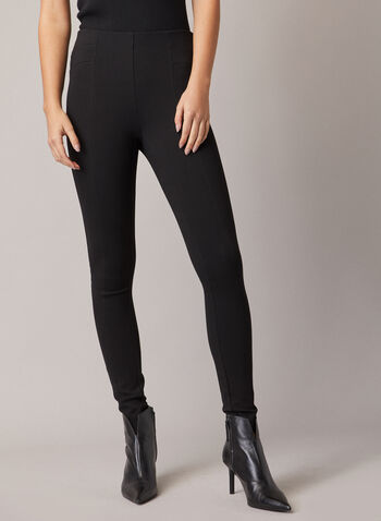 Ponte di Roma Kayla Leggings, Black,  leggings, kayla, slim, ponte di roma, stitching, fall winter 2020