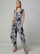 Frank Lyman - Floral Print Jumpsuit, Black, hi-res