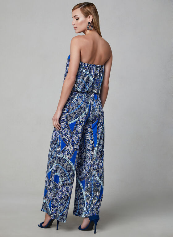 Strapless Jumpsuit, Blue, hi-res
