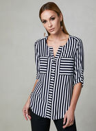 Vex - Striped Blouse, Blue, hi-res