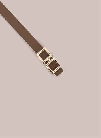 Thin Leather Belt, Brown,  belt, leather, leather belt, thin belt, spring 2020, summer 2020