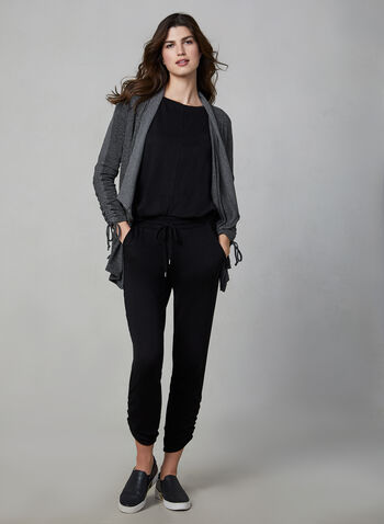 Vince Camuto - Long Sleeve Top , Black,  top, long sleeves, boat neck, dolman sleeves, comfortable & stretchy, fall 2019, winter 2019