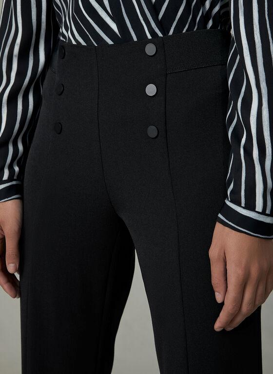Slit Straight Leg Pants, Black