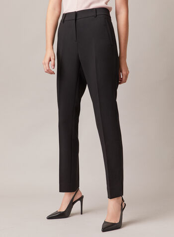 Giselle Slim Leg Pants, Black,  pants, slim leg, giselle, pleats, pockets, high rise, fall winter 2020