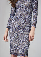 BA Nites - Long Sleeve Lace Dress, Blue