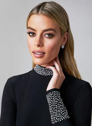 Frank Lyman - A-Line Jersey Dress, Black, hi-res