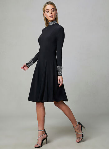 Frank Lyman - A-Line Jersey Dress, Black,  A-line, long sleeves, jersey, made in Canada, exclusively online, sprig 2019