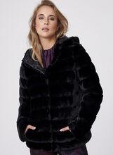 Frank Lyman - Reversible Faux Fur Coat, , hi-res