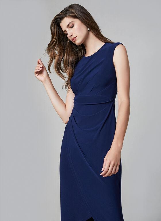 Robe à détail drapé, Bleu, hi-res