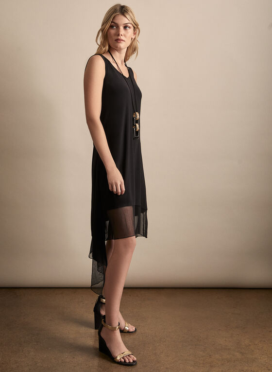 Compli K - Asymmetric Jersey Dress, Black