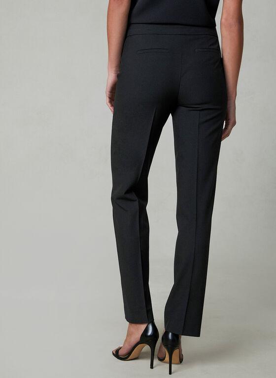 Pantalon Lauren Petites à jambe droite, Noir, hi-res