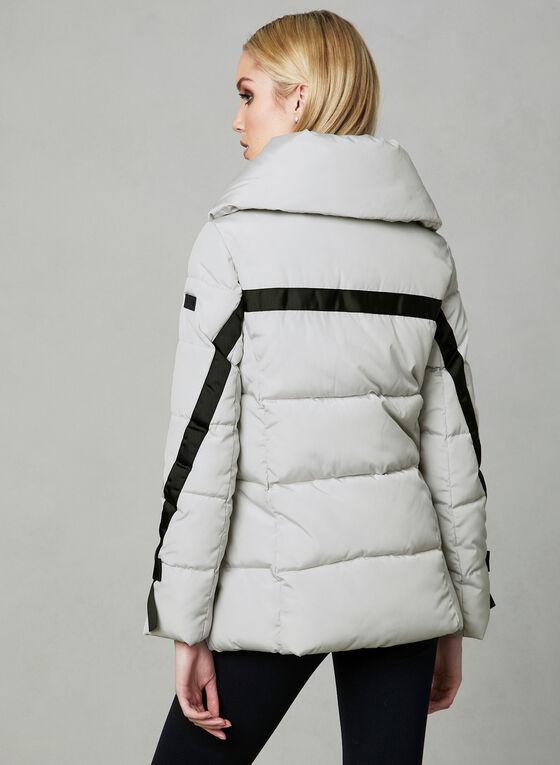 Karl Lagerfeld Paris - Manteau matelassé à détails nœuds, Argent
