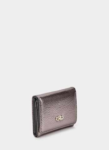 Small Metallic Wallet, Grey,  wallet, metallic, accessories, metallic wallet, eternity, charms, fall 2019, winter 2019