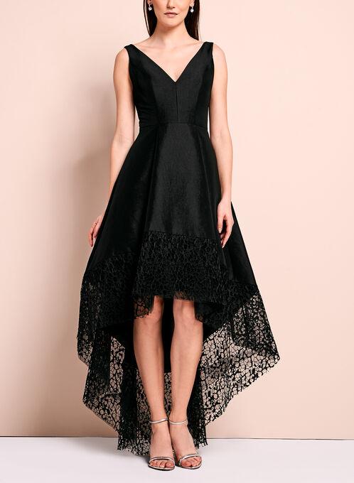 Robe de soirée en dentelle, Noir, hi-res