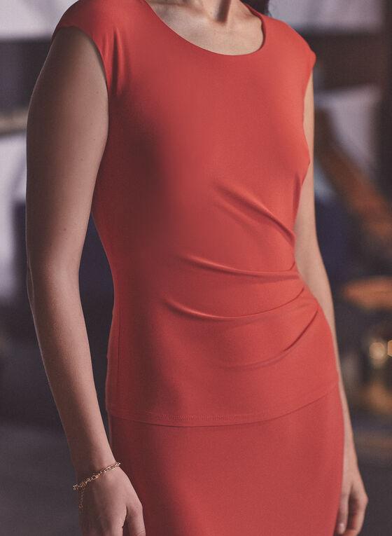Joseph Ribkoff - Robe unie ajustée , Orange