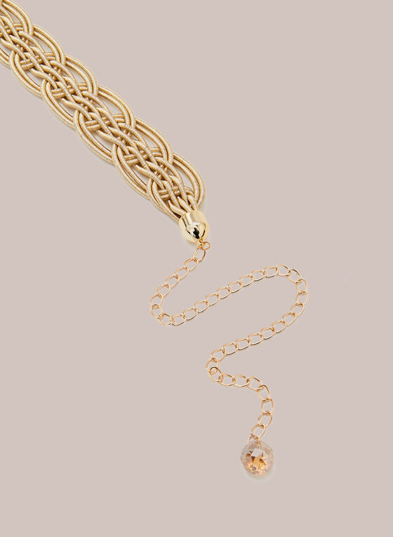 Braided Waist Belt, Gold