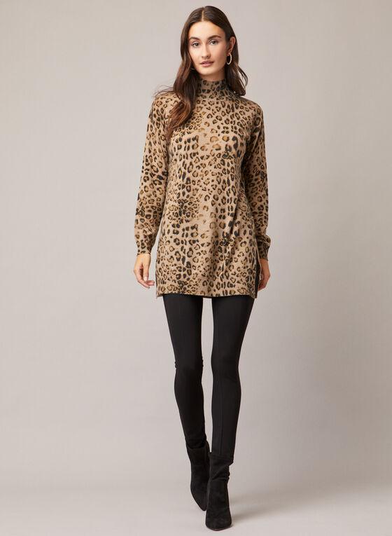 Alison Sheri - Pull à motif léopard, Brun