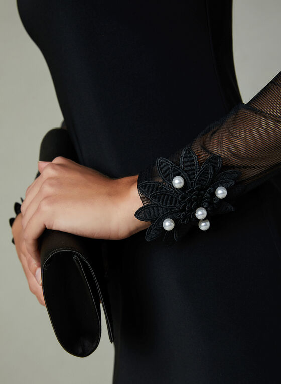 Joseph Ribkoff - Robe fourreau à épaules ajourées, Noir, hi-res
