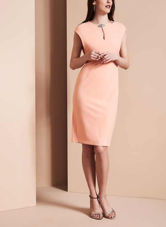Maggy London - Jewel Trim Dress, Pink, hi-res
