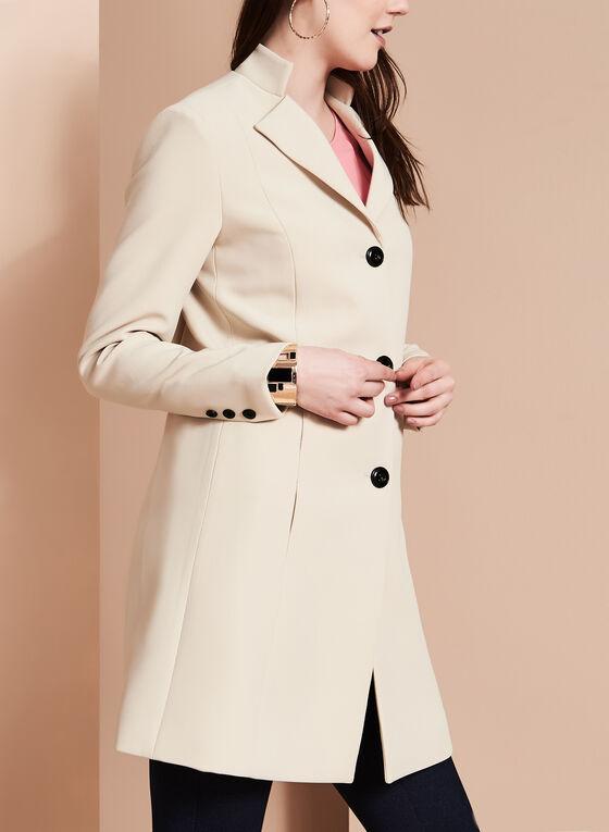 Nuage - Manteau de style banquier à col rabattu, Brun, hi-res