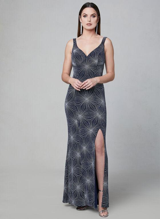 Cachet - Shimmer Jersey Dress, Blue, hi-res