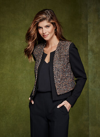 Cropped Tweed Blazer, , hi-res