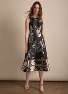 Adrianna Papell - Metallic Floral Dress, Black