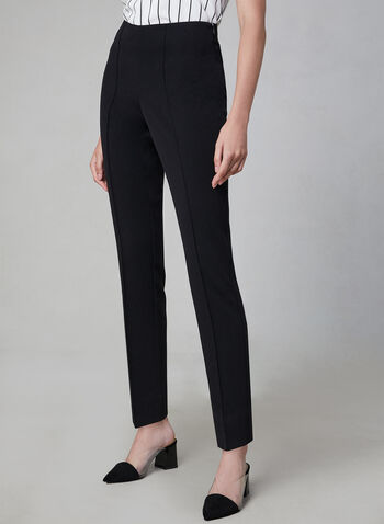 Amber Fit Slim Leg Pants, Black, hi-res,  amber, pull-on, high rise, stretchy, slim leg, ankle length, fall 2019, winter 2019