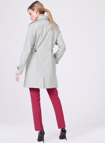 Northside – Water Repellent Trench Coat, Off White, hi-res