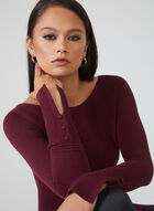 Ottoman Knit Sweater, Red, hi-res