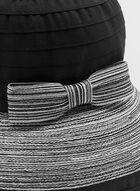 Bow Detail Sunbonnet, Black, hi-res