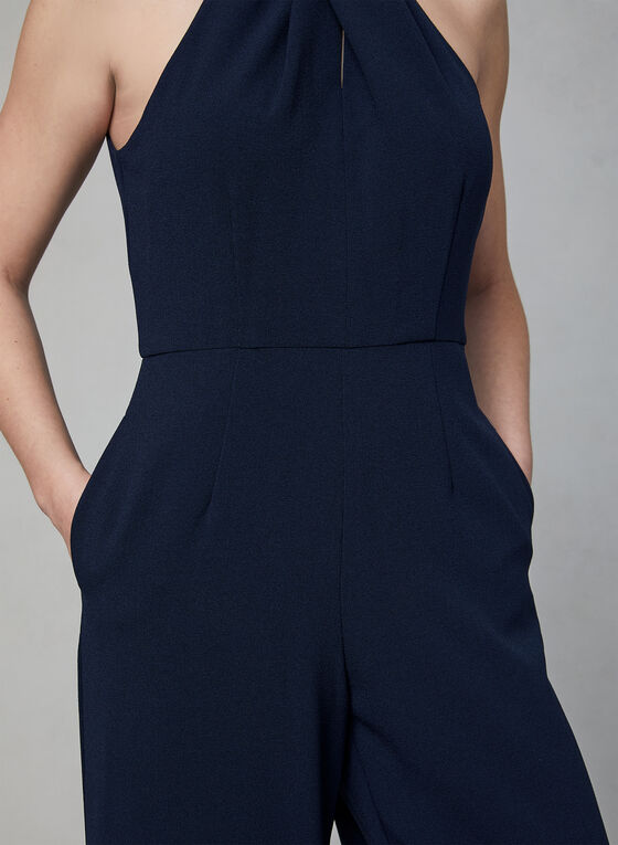 Julia Jordan - Halter Neck Jumpsuit, Blue