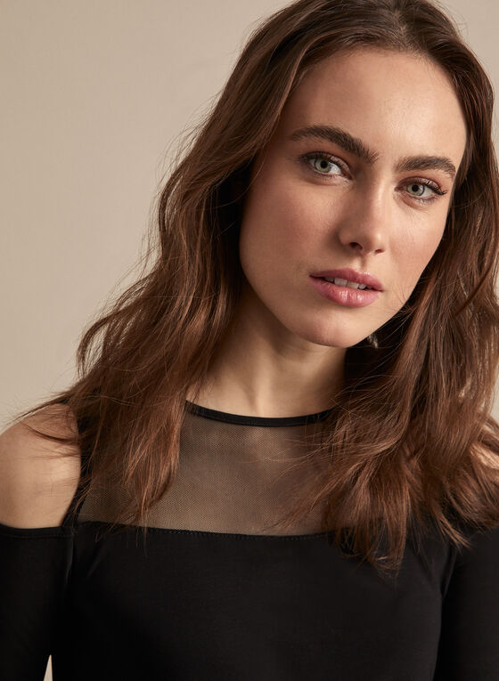 Cold Shoulder Top, Black