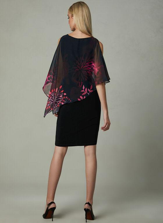 Frank Lyman - Cold Shoulder Poncho Dress, Black