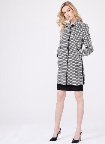 Novelti - Manteau motif géométrique, Noir, hi-res