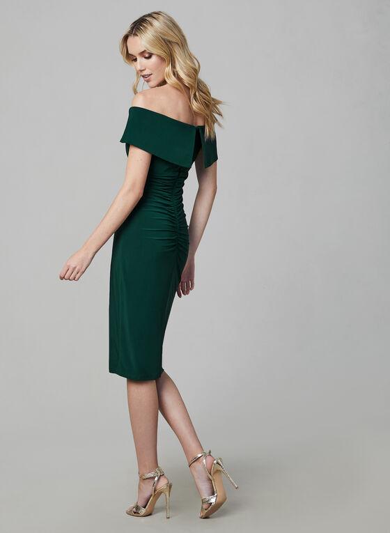 BA Nites - Off-the-Shoulder Dress, Green