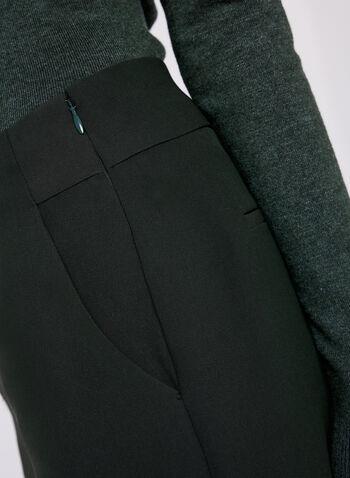 Pantalon Soho à taille haute et jambe large , Vert, hi-res