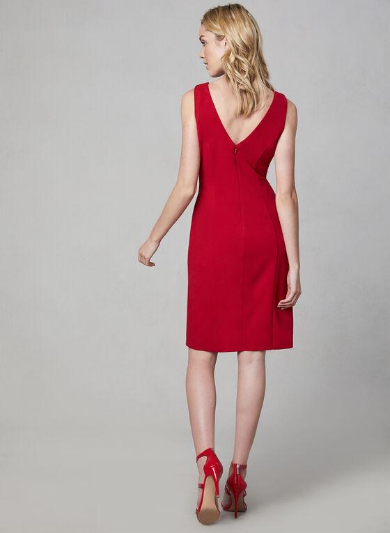 Cachet - Draped Sheath Dress, Red