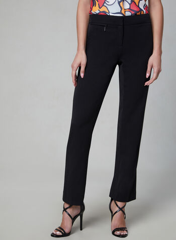 Petite Lauren Fit Pants, Black, hi-res,  straight leg, petite, fall 2019, winter 2019, tailored,