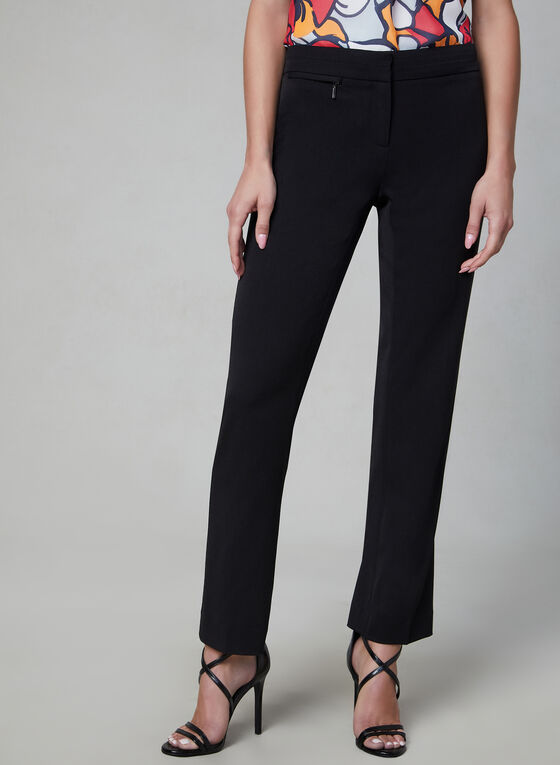 Petite Lauren Fit Pants, Black, hi-res