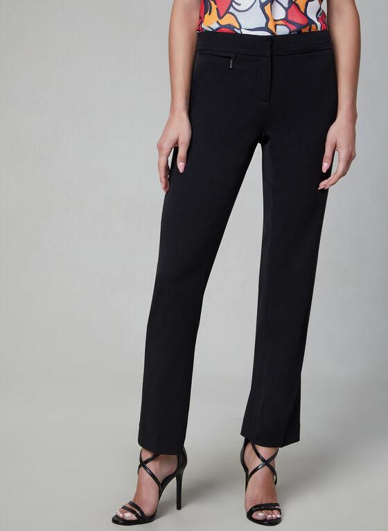 Pantalon Lauren Petite à jambe droite, Noir